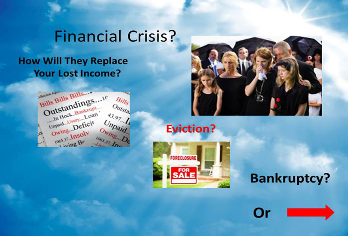 Would a sudden unexpected death plunge your family into a financial crisis? Would a sudden unexpected death plunge your family into a financial crisis?